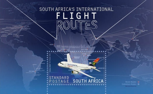 [South Africa's International Flight Routes, Typ ]