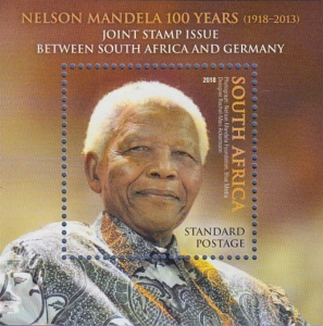 [The 100th Anniversary of the Birth of Nelson Mandela, 1918-2013 - Joint Issue with Germany, Typ ]