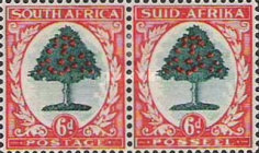 [Local Motives, Country name in English or Afrikaans - Prices are for Single Stamps, Typ BJ1]