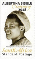 [The 100th Anniversary (2018) of the Birth of Albertina Sisulu, 1918-2011, Typ CMI]