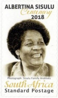 [The 100th Anniversary (2018) of the Birth of Albertina Sisulu, 1918-2011, Typ CMJ]