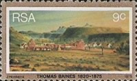 [The 100th Anniversary of the Death of Thomas Baines, Painter, Typ OB]