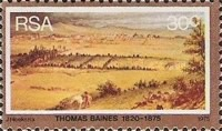 [The 100th Anniversary of the Death of Thomas Baines, Painter, Typ OD]