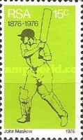 [The 100th Anniversary of organized cricket in South Africa - Flourescent Paper, Typ OO]