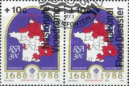 [National Flood Relief Fund - Overprint in English or Afrikaans, Typ XM2]