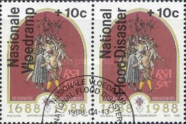 [National Flood Relief Fund - Overprint in English or Afrikaans, Typ XO2]