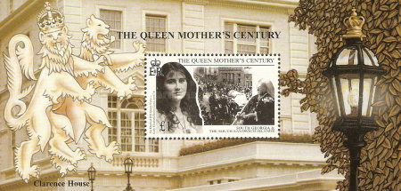 [The 99th Anniversary of the Birth of Queen Elizabeth the Queen Mother, 1900-2002, Typ ]