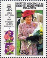 [The 65th Anniversary of the Birth of Queen Elizabeth II, Typ AW]