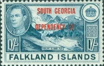 """[Falkland Islands Postage Stamps Overprinted """"SOUTH GEORGIA DEPENDENCY OF."""", type A7]"""