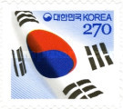 [National Flag of Korea - Self Adhesive, type CTT]