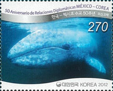 [Whales - The 50th Anniversary of Diplomatic Relations with Mexico - Joint Issue, type CUK]