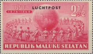 [Airmail -  The 75th Anniversary (1949) of the Universal Postal Union, Typ B2]