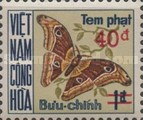[Moths & Butterflies - Postage Due Stamps of 1968 Surcharged, Typ D4]