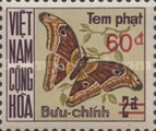 [Moths & Butterflies - Postage Due Stamps of 1968 Surcharged, Typ D5]