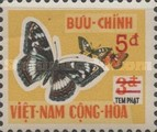 [Moths & Butterflies - Postage Due Stamps of 1968 Surcharged, Typ E3]