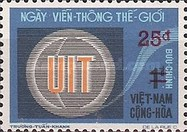 [The 100th Anniversary of W.M.O. and World Telecommunications Day - Stamps of 1973 Surcharged, type IK1]