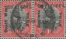 [South Africa Stamps of 1913 & 1926 Overprinted in English