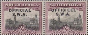 [South Africa Stamps of 1926-1927 Overprinted in English