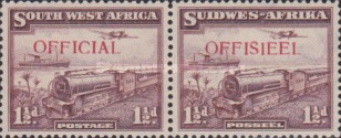[Train, Ocean Liner and Plane - South West Africa Postage Stamps of 1936 Overprinted