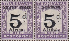 [Transvaal Postage Due Stamps of 1907 Overprinted