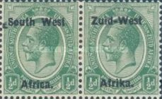 "[South Africa Postage Stamps Overprinted ""South West(14½mm wide) Africa"" or ""Zuid-West Afrika"" - Overprint Spaced 14mm, type A1]"