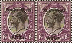 "[South Africa Postage Stamps Overprinted ""South West(14½mm wide) Africa"" or ""Zuid-West Afrika"" - Overprint Spaced 14mm, type A11]"