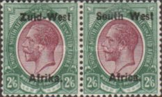 """[South Africa Postage Stamps Overprinted """"South West(14½mm wide) Africa"""" or """"Zuis-West Afrika"""" - Overprint Spaced 14mm, type A16]"""