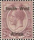 "[South Africa Postage Stamps Overprinted ""South West(14½mm wide) Africa"" or ""Zuid-West Afrika"" - Overprint Spaced 14mm, type A4]"