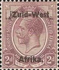 "[South Africa Postage Stamps Overprinted ""South West(14½mm wide) Africa"" or ""Zuid-West Afrika"" - Overprint Spaced 14mm, type A5]"