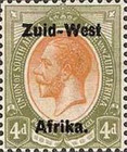 "[South Africa Postage Stamps Overprinted ""South West(14½mm wide) Africa"" or ""Zuid-West Afrika"" - Overprint Spaced 14mm, type A9]"