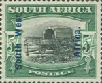 [South Africa Postage Stamps Overprinted, type J9]