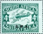 [Airmail - South Africa Postage Stamps Overprinted