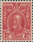 [King George V in Uniform - Different Perforation, type B14]