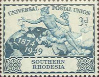 [The 75th Anniversary of Universal Postal Union, type Y]