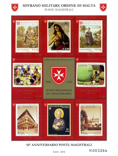 [The 50th Anniversary of the Post Office of Sovereign Military Order of Malta, Typ ]