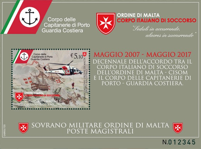 [The 10th Anniversary of the Agreement between the Italian Rescue Body of the Order of Malta - Cisom and the Body of Port Authorities - Coast Guard, Typ ]