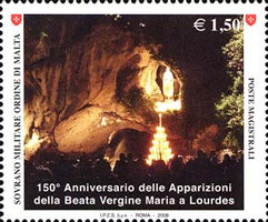 [The 150th Anniversary of the Apparitions of the Virgin Mary in Lourdes, Typ AMZ]