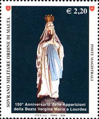 [The 150th Anniversary of the Apparitions of the Virgin Mary in Lourdes, Typ ANA]