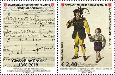 [The 150th Anniversary of the Death of Gioacchino Rossini, 1792-1868, Typ BIH]