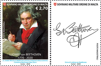 [The 250th Anniversary of the Birth of Ludwig van Beethoven, 1770-1827, Typ BKZ]
