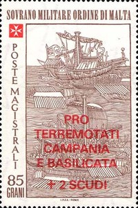 [The 500th Anniversary of the Battle of Rhodes - Overprinted
