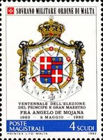[Coat of Arms of the Grand Masters - Angelo De Mojana, type HM]