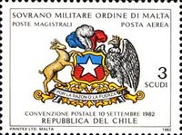 [Airmail - Postal Agreement with Chile, type HR]