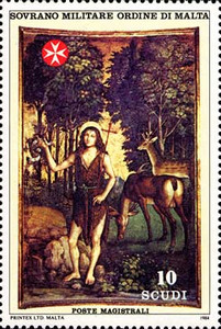 [St. John the Baptist, Patron of the Order, Typ IQ]