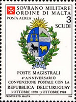[Airmail - Postal Agreement with Uruguay, Typ IS]