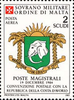 [Airmail - Postal Agreement with Ivory Coast, Typ JE]