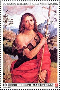 [St. John the Baptist, Patron of the Order, Typ RA]