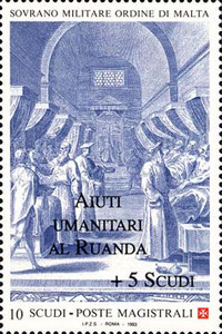[Founding of the Hospital of St. John overprinted