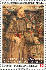 [The 800th Anniversary of the Birth of St. Anthony of Padua, 1195-1231, Typ VN]