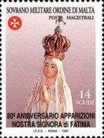 [The 80th Anniversary of the Appearance of Our Lady of Fatima, Typ XN]